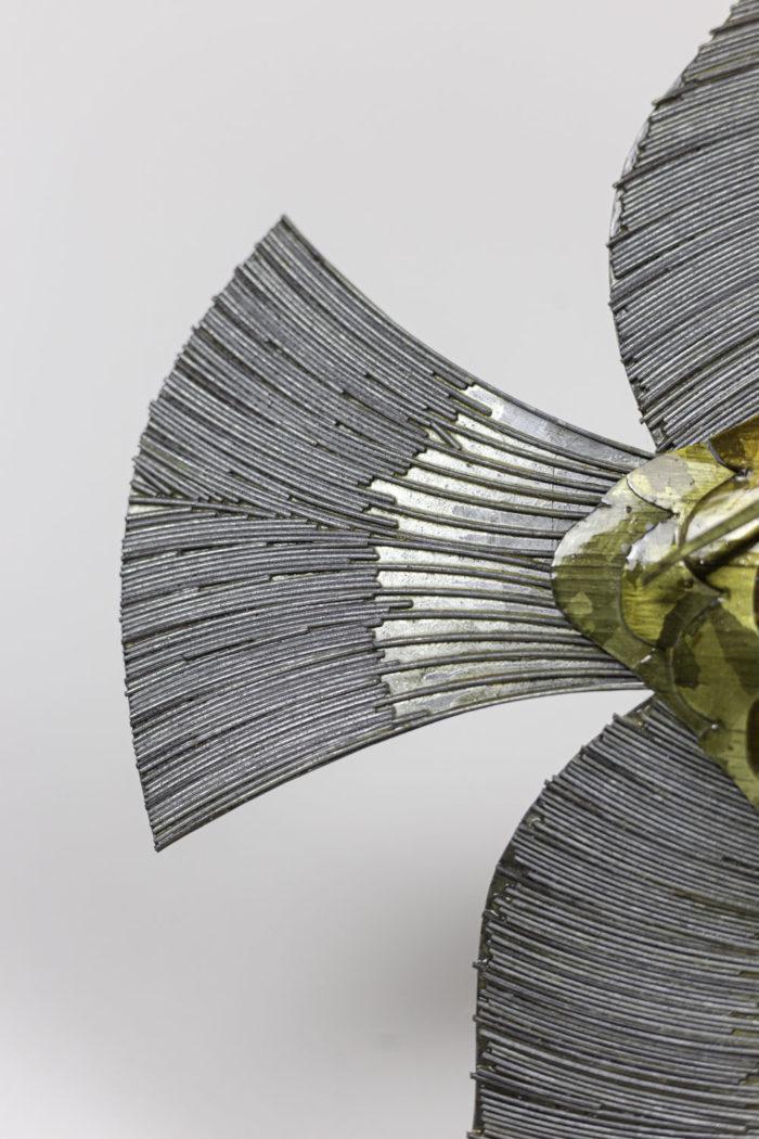 poisson feuilles cuivre étain laiton 1970 queue