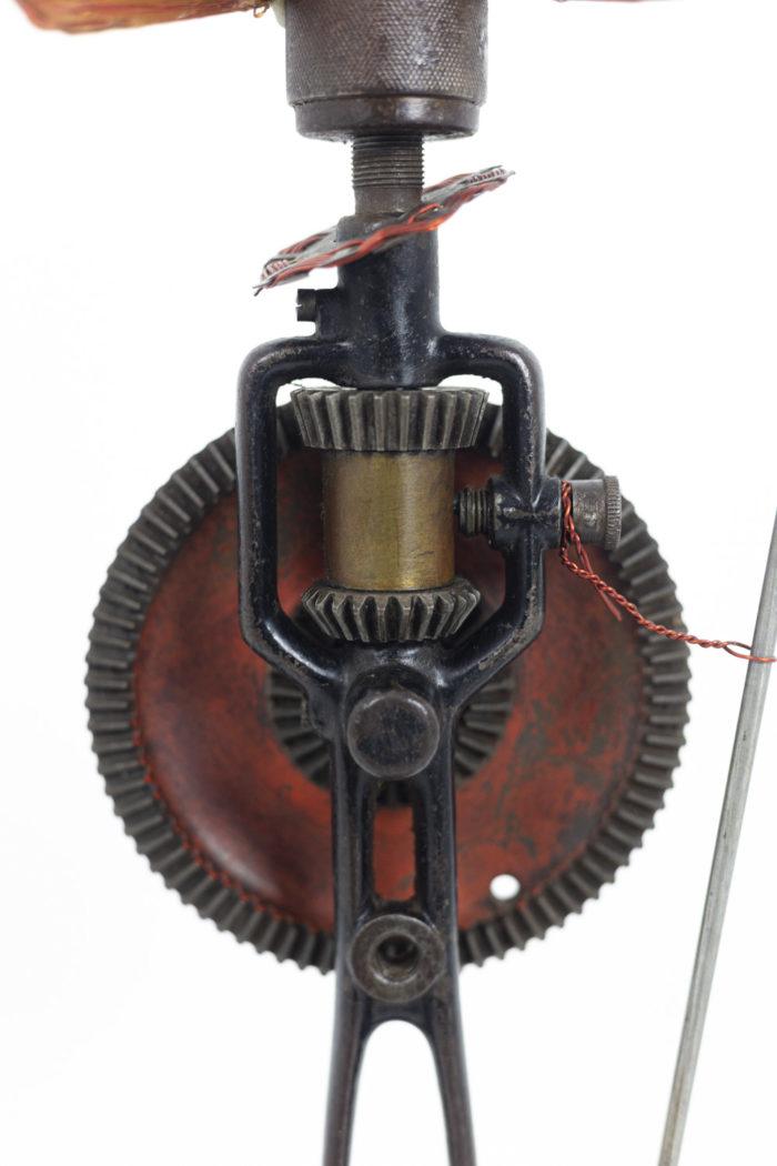 sculpture bronze guerrier africain corps