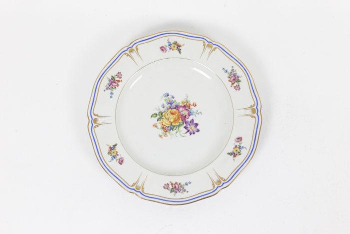service porcelaine limoges pallas france fleurs