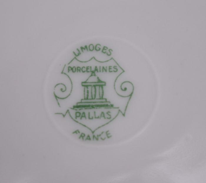 service porcelaine limoges pallas france signature