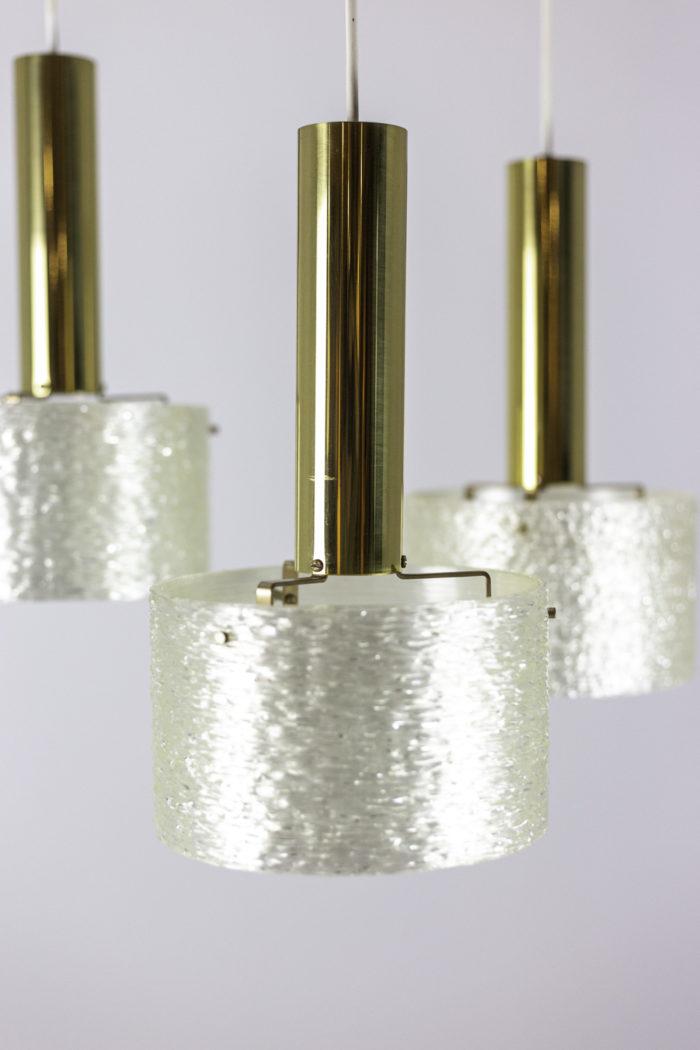 suspension résine granitée laiton doré abat-jour 2