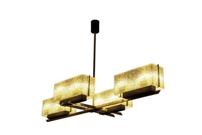 suspension résine granitée laiton doré métal noir 2