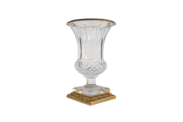 medici vase cut crystal gilt bronze