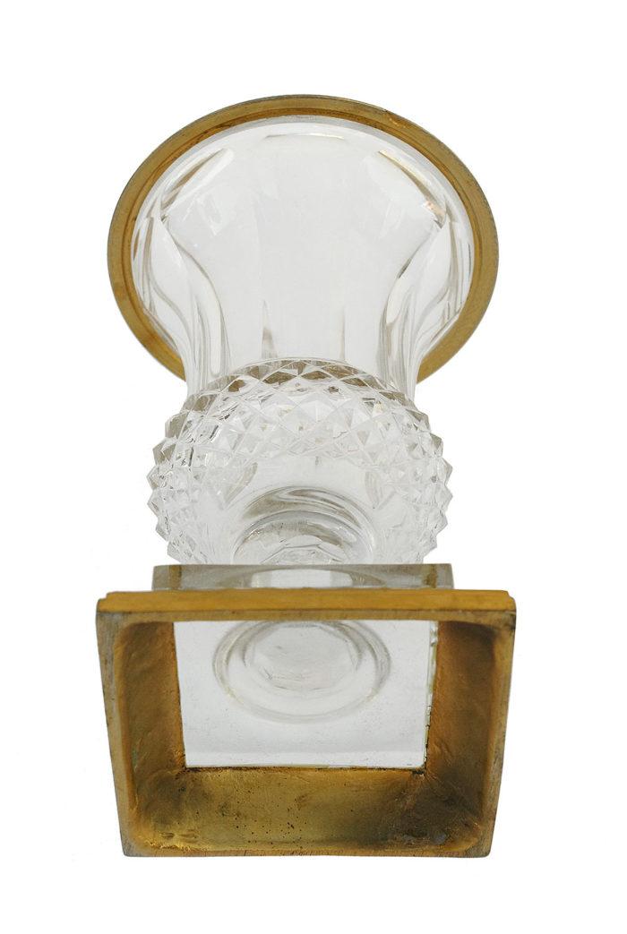 medici vase cut crystal gilt bronze base