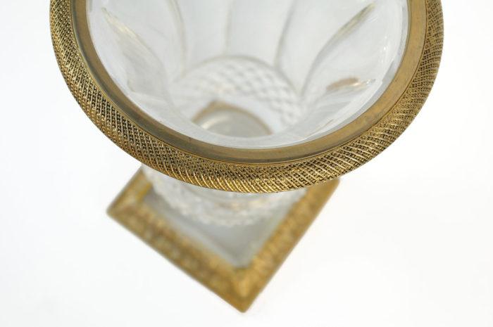 medici vase cut crystal gilt bronze cables