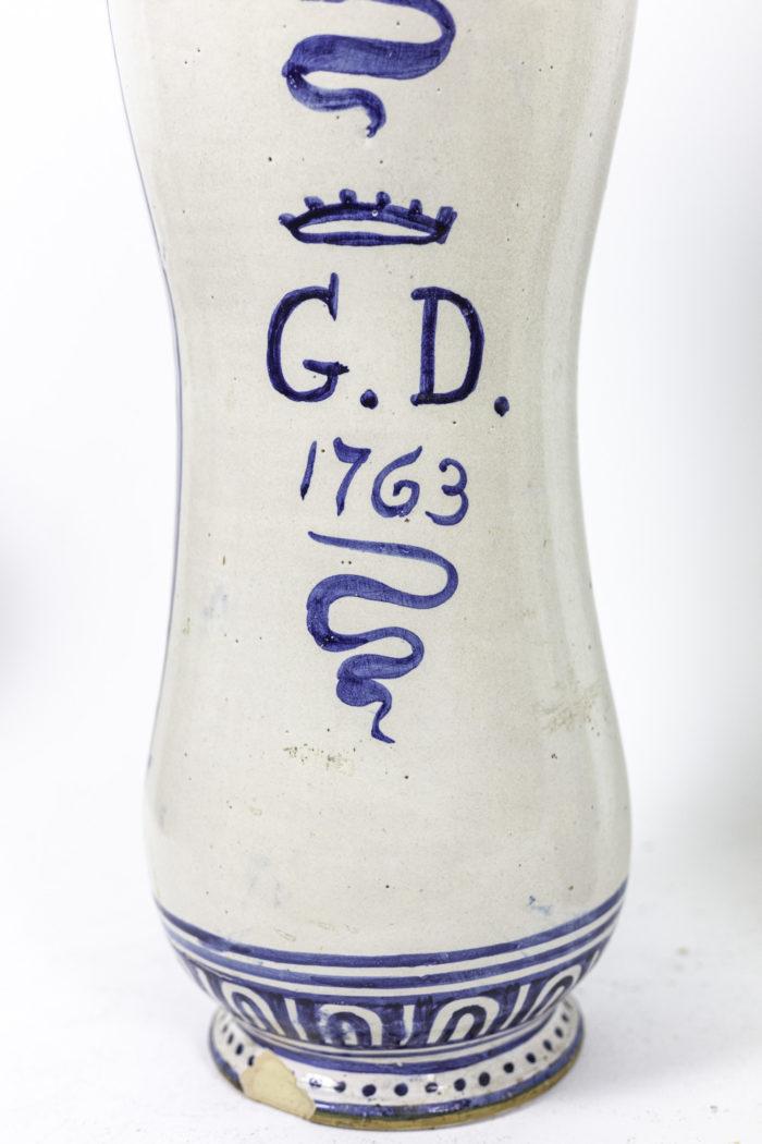 vases faïence polychrome majolique italienne signature