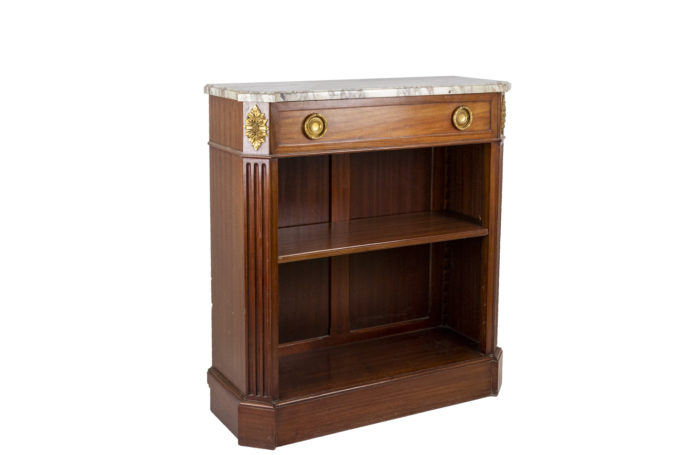 louis xvi style bookshelf mahogany