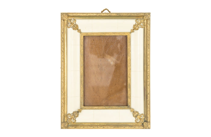 louis xiv style photo frame ivory gilt bronze