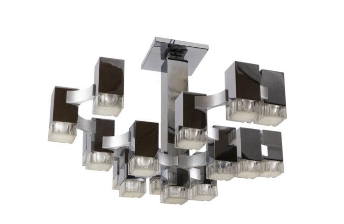 gaetano sciolari cubic chandelier 17 lights
