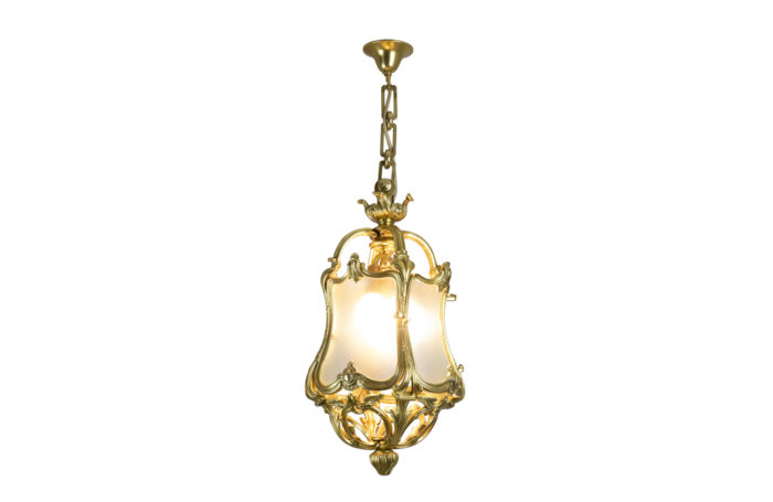louis xv style lantern gilt bronze glass