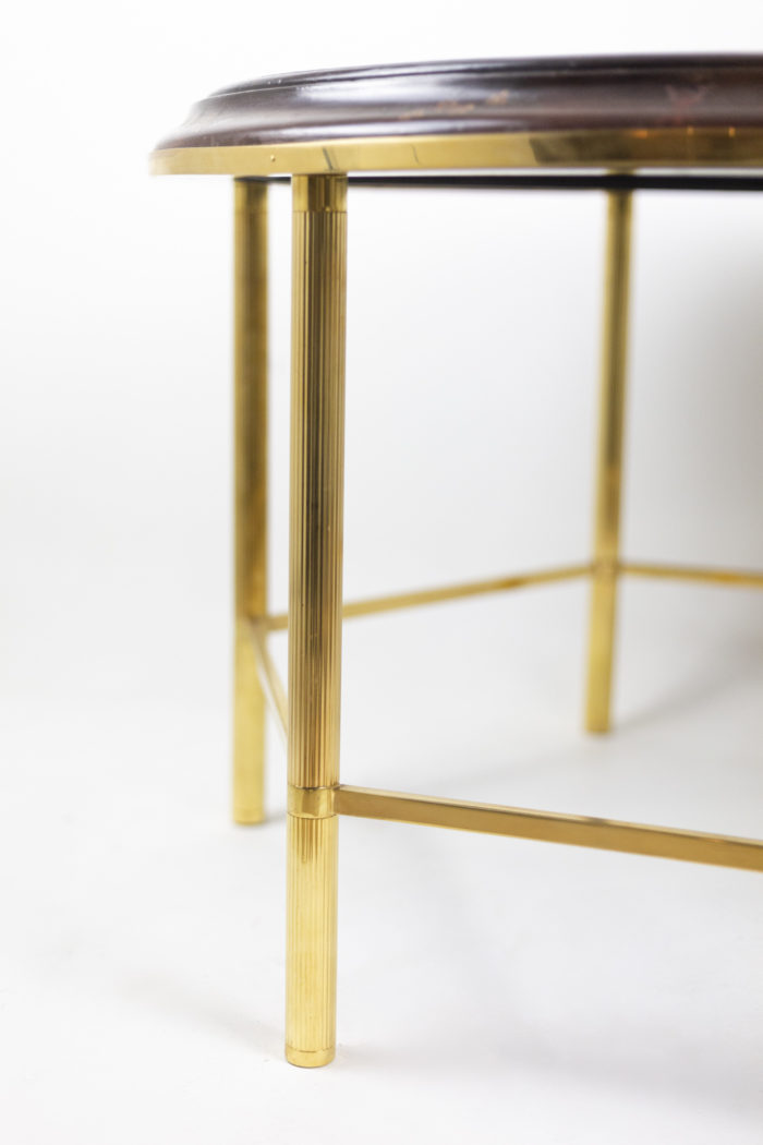 coffee table persian style lacquer gilt bronze leg