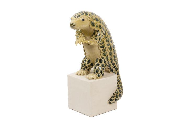 valérie courtet pangolin glazed stoneware sculpture