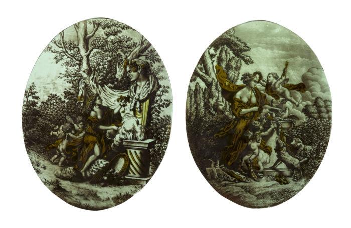 vitraux style néoclassique scènes antiques