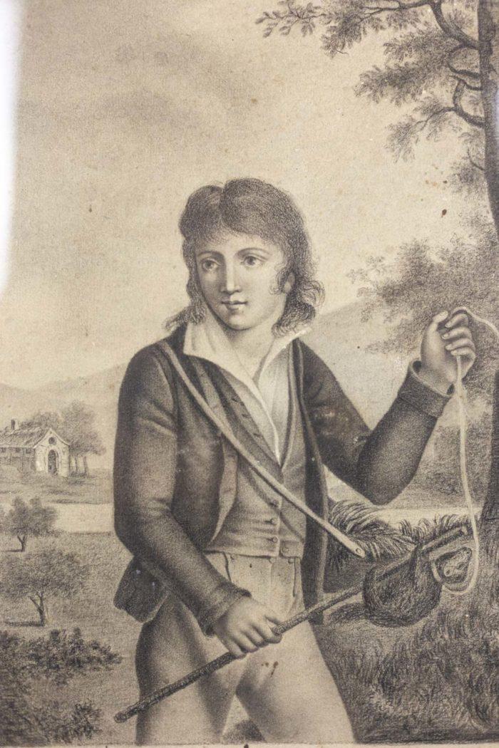 Portrait d'un jeune homme dessin