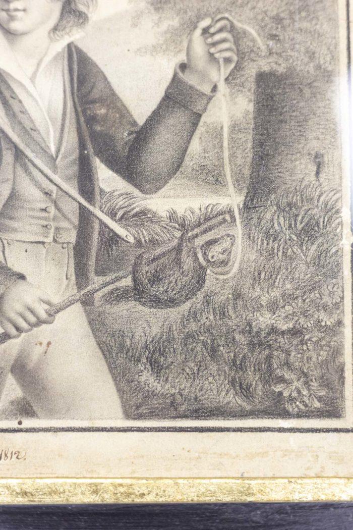 Portrait d'un jeune homme détail 1