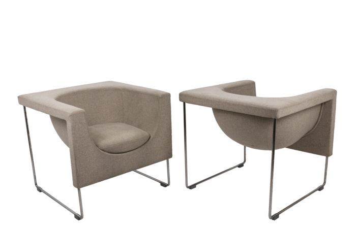 Pair of Nube armchairs 1