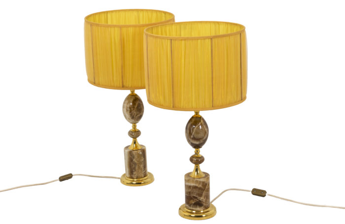 Pair of lamps in onyx 1