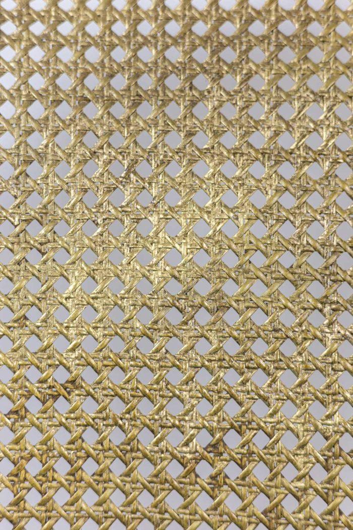 Marquise Louis XV en bois doré détail cannage