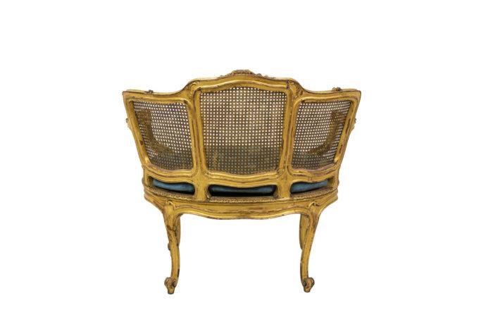 Marquise Louis XV en bois doré dos