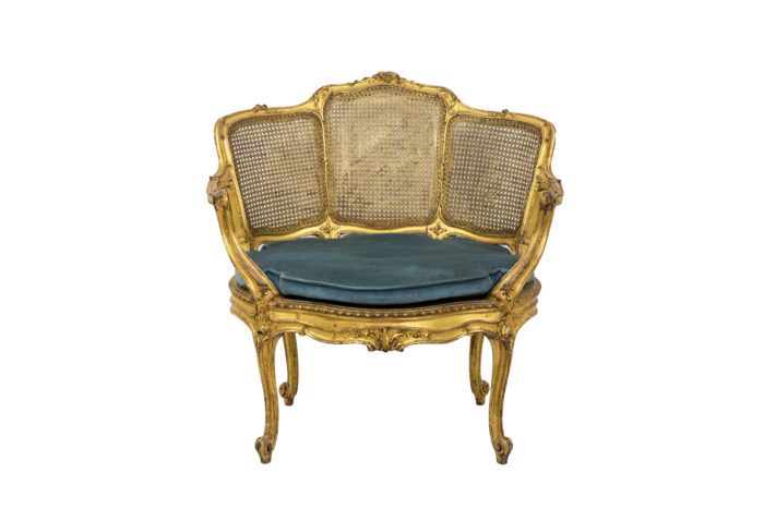 Marquise Louis XV en bois doré face