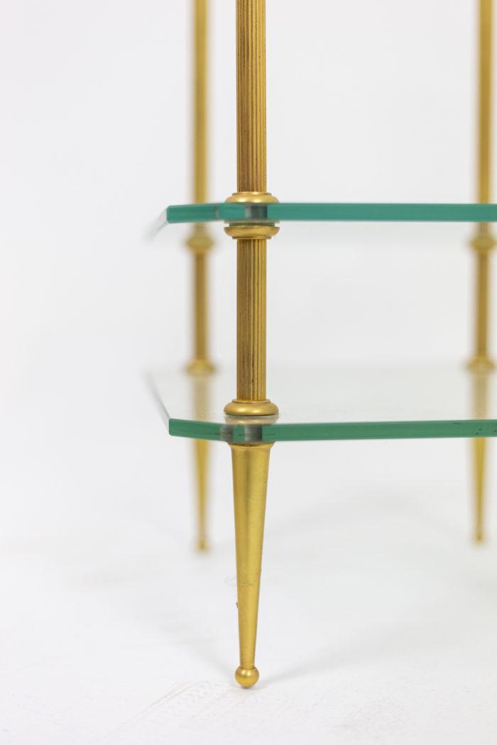 Table basse bronze doré pied