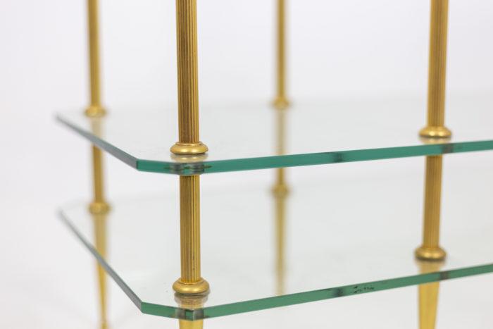 Table basse bronze doré plateaux