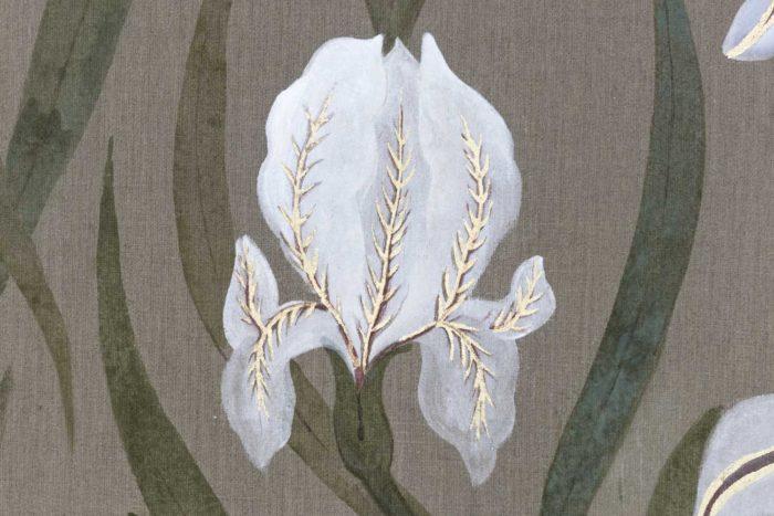 Toile Fleurs blanches et singes fleur