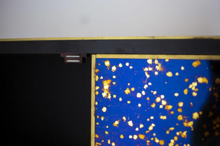 cabinet oxidized mirror gilt brass detail