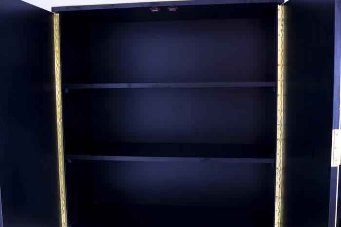 cabinet oxidized mirror gilt brass interior