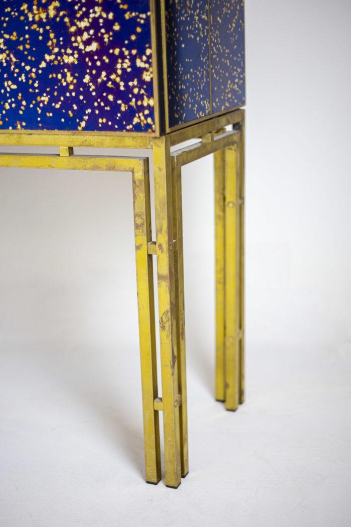 cabinet oxidized mirror gilt brass legs