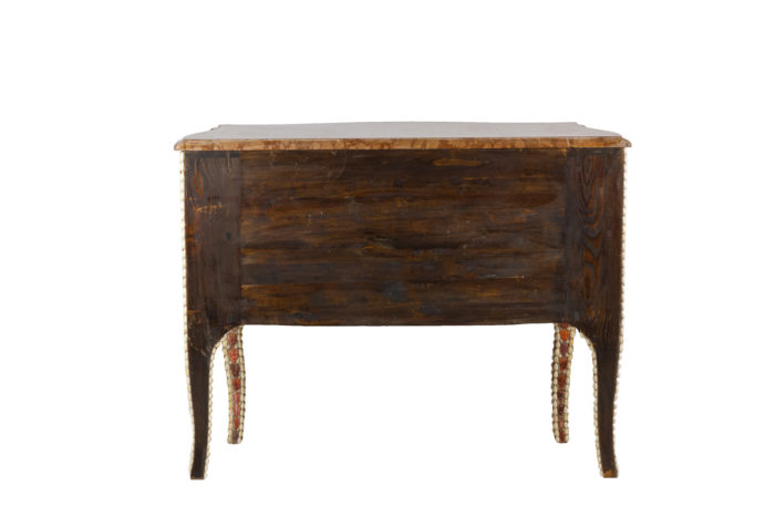 commode style louis xv coquillages quartz dos