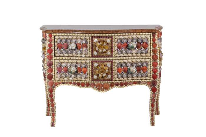 commode style louis xv coquillages quartz face
