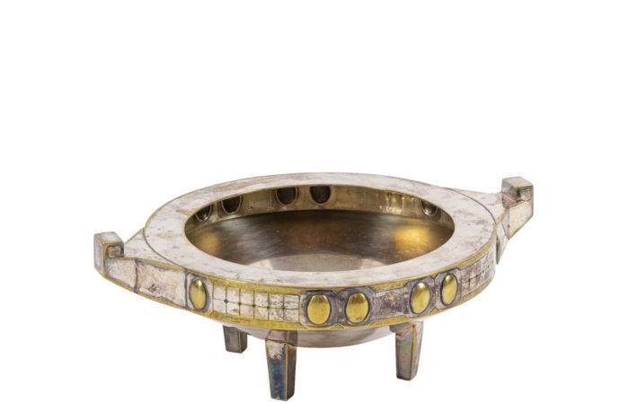 coupe jugendstil métal argenté et doré 2