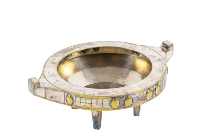 coupe jugendstil métal argenté et doré 3