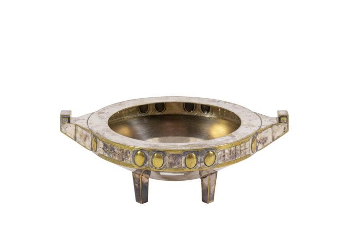 coupe jugendstil métal argenté et doré
