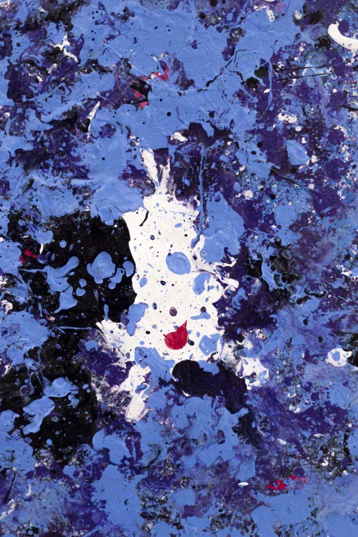 danhôo peinture abstraite travail contemporain pollock