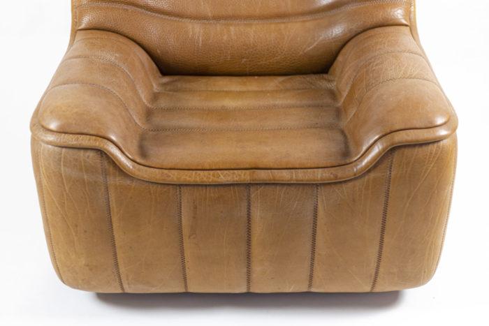 de sede fauteuils ds46 cuir marron assise