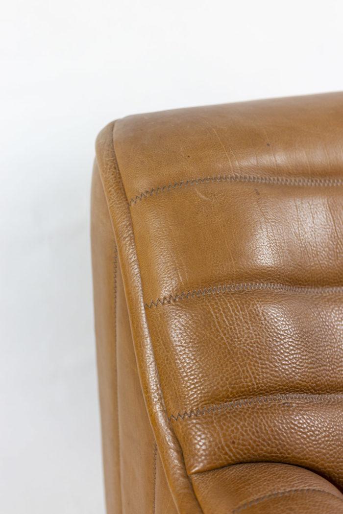 de sede fauteuils ds46 cuir marron détail 2
