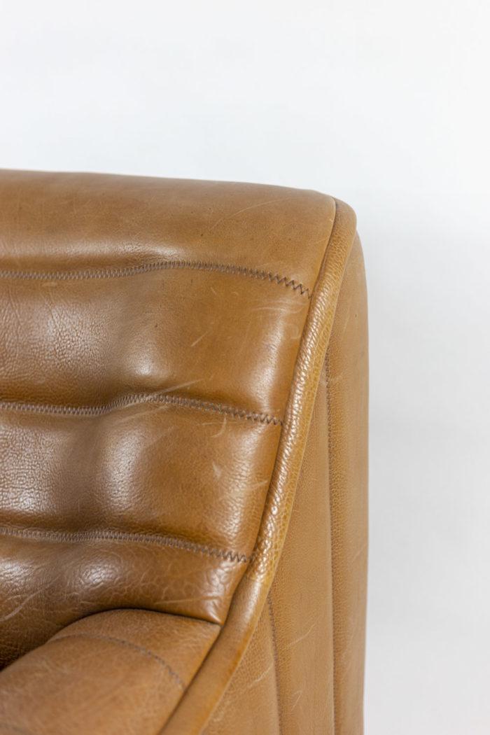 de sede fauteuils ds46 cuir marron détail
