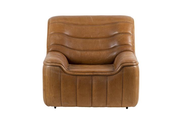 de sede fauteuils ds46 cuir marron face