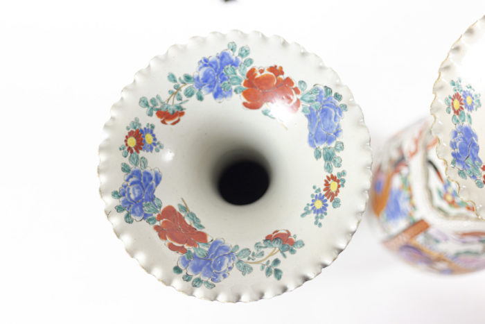 grands vases porcelaine chinoise col