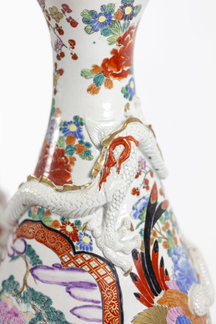 grands vases porcelaine chinoise dragon