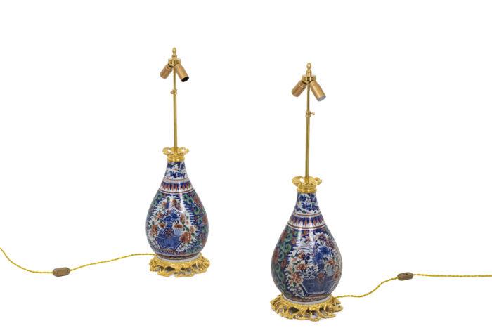 lamps delftware gilt bronze