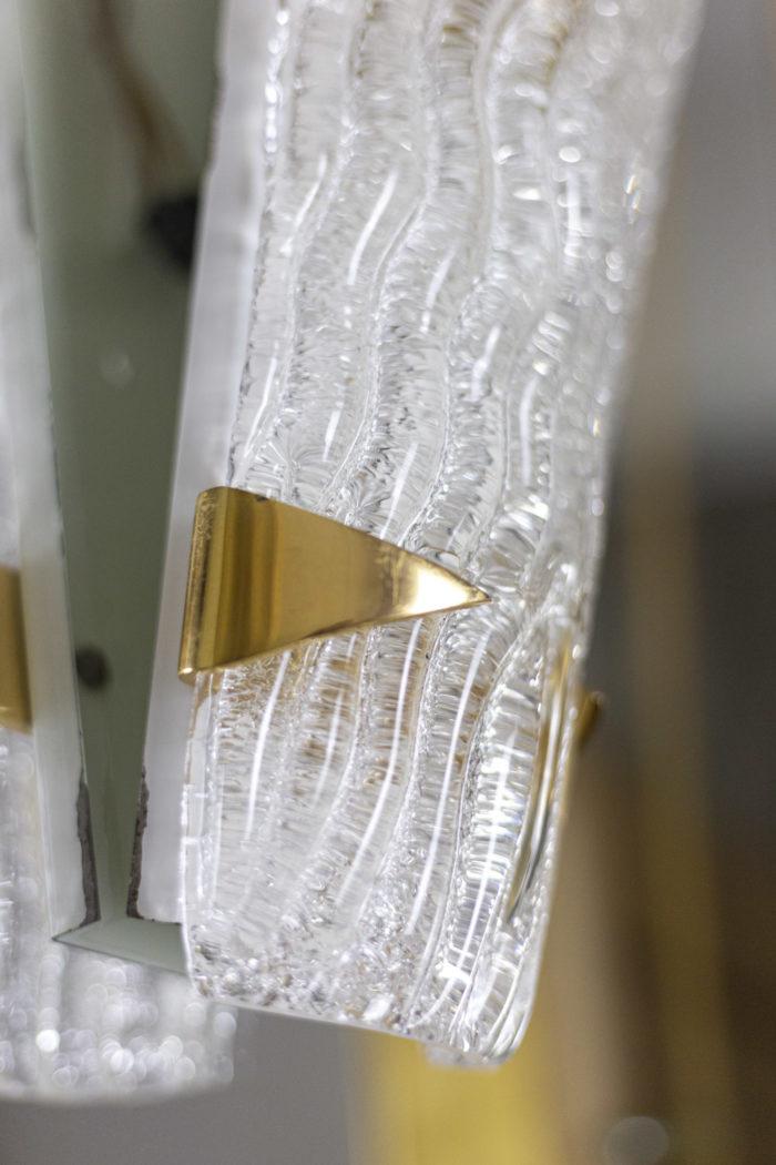 maison arlus appliques verre granité laiton doré