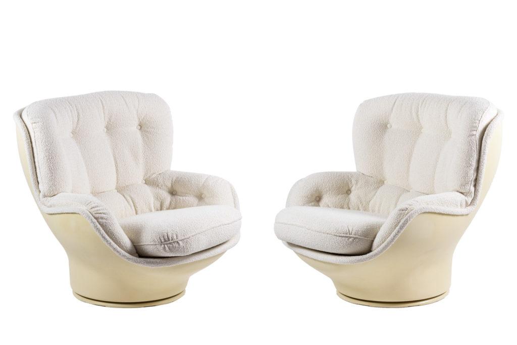 Michel Cadestin, Paire de fauteuils Karaté, années 1970