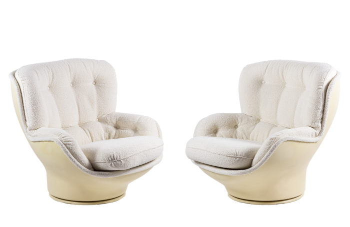michel cadestin karaté armchairs fiberglass