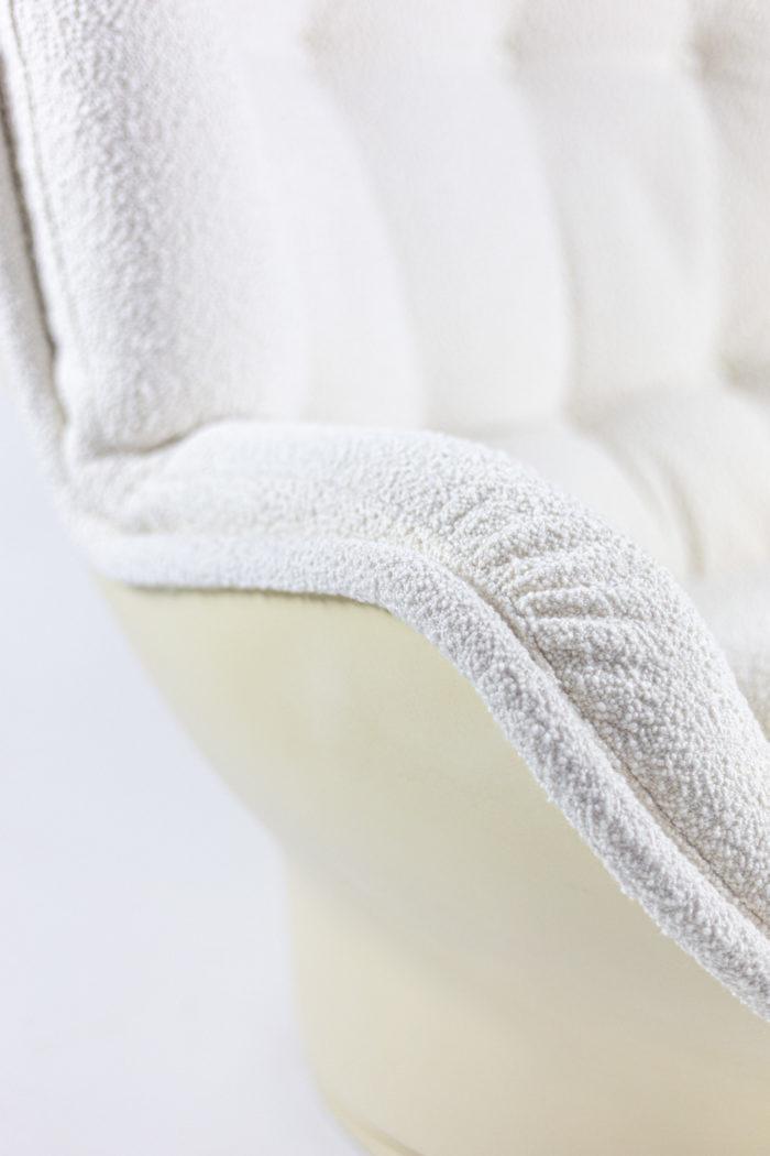 michel cadestin fauteuils karaté fibre de verre accotoir