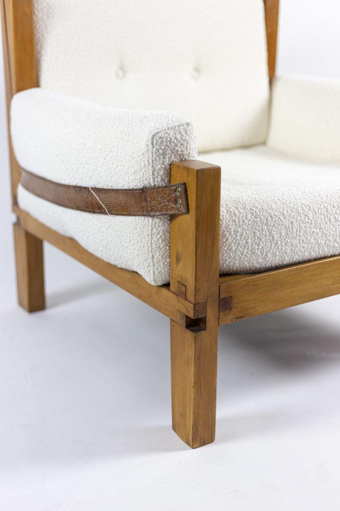 pierre chapo fauteuil s15 orme cuir accotoir 2