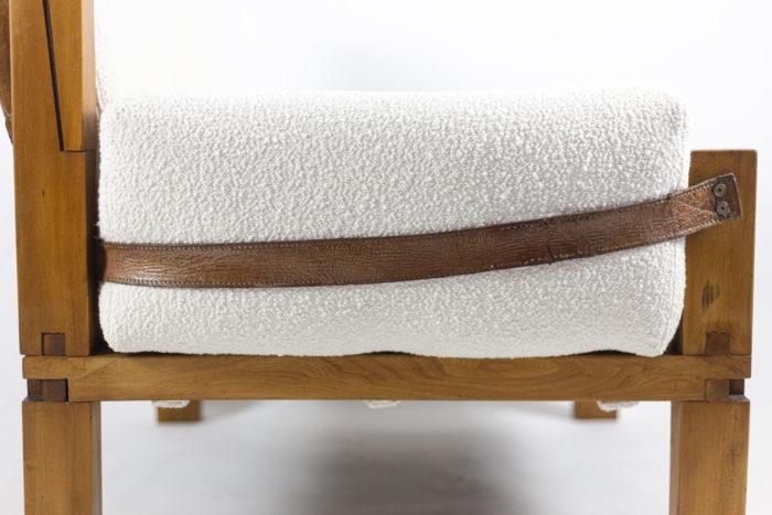 pierre chapo fauteuil s15 orme cuir accotoir