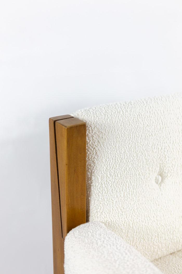 pierre chapo fauteuil s15 orme cuir détail